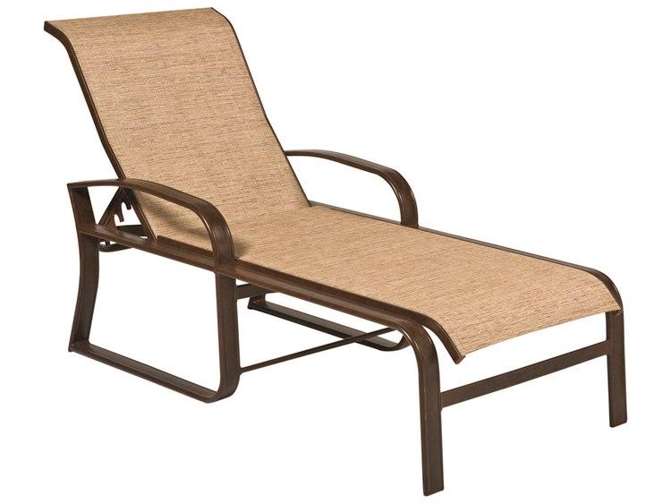 Woodard Cayman Isle Sling Aluminum Chaise Lounge