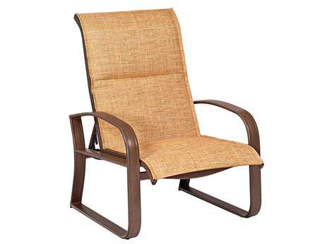 Woodard Cayman Isle Padded Sling Aluminum Adjustable Lounge Chair