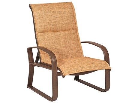 Woodard Cayman Isle Padded Sling Aluminum Lounge Chair