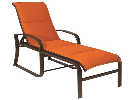 Woodard Cayman Isle Padded Sling Aluminum Adjustable Chaise Lounge