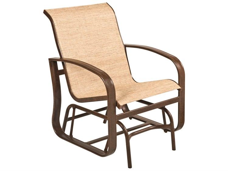 Woodard Cayman Isle Sling Aluminum Glider Lounge Chair PatioLiving