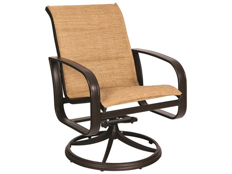 Woodard Cayman Isle Padded Sling Aluminum Swivel Rocker