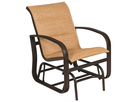 Woodard Cayman Isle Padded Sling Aluminum Glider Lounge Chair