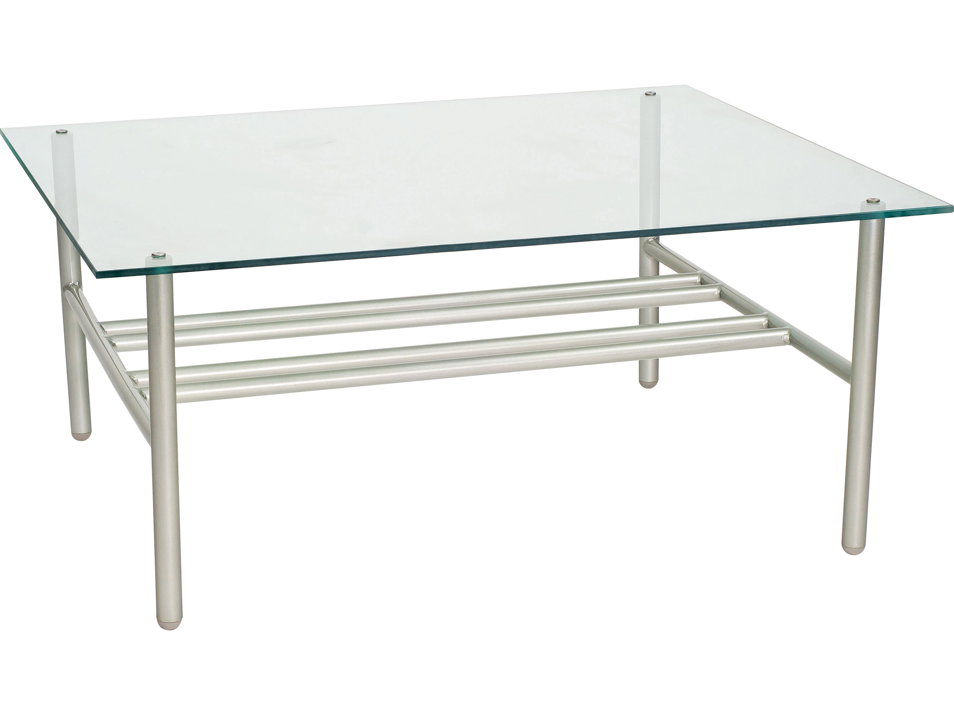 Woodard uptown wrought iron 42 x 36 rectangular glass top for Rectangular coffee table with glass top