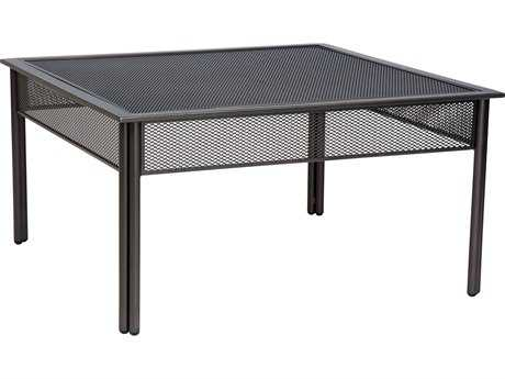 Woodard Jax Wrought Iron 38.3 Square Micro Mesh Coffee Table