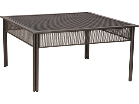 Woodard Jax Wrought Iron 38.3 Square Micro Mesh Coffee Table WR2J0053MM