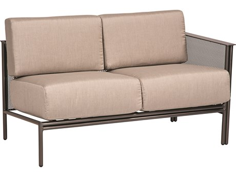 Woodard Jax Wrought Iron RAF Sectional Loveseat