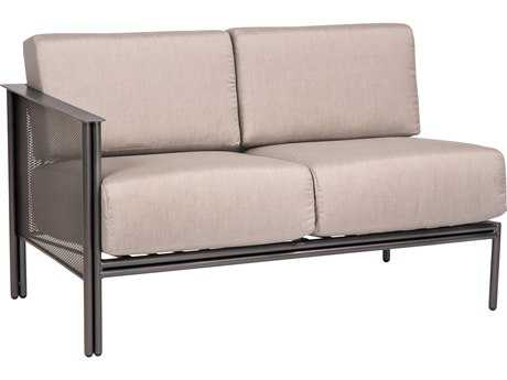 Woodard Jax Wrought Iron LAF Sectional Loveseat