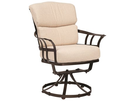 Woodard Atlas Wrought Iron Swivel Dining Arm Chair