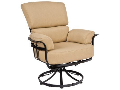 Woodard Atlas Wrought Iron Swivel Lounge Chair