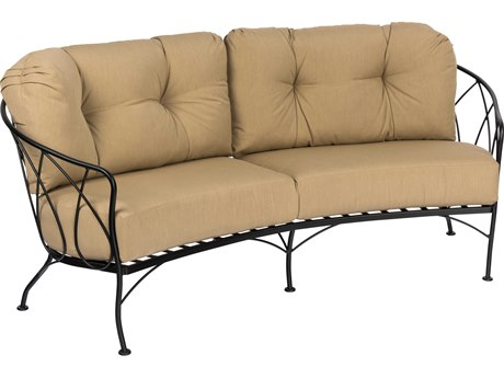 Woodard Delaney Wrought Iron Crescent Loveseat