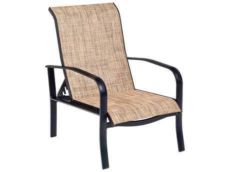 Woodard Fremont Sling Aluminum Adjustable Lounge Chair