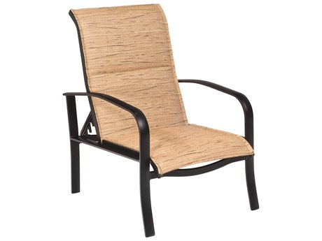 Woodard Fremont Padded Sling Aluminum Adjustable Lounge Chair