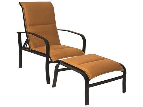 Woodard Fremont Padded Sling Aluminum Lounge Chair WR2P0535