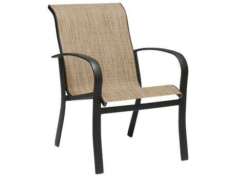 Woodard Fremont Sling Aluminum Dining Arm Chair Stackable