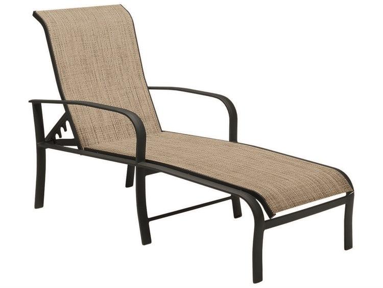 Woodard Fremont Sling Aluminum Chaise Lounge
