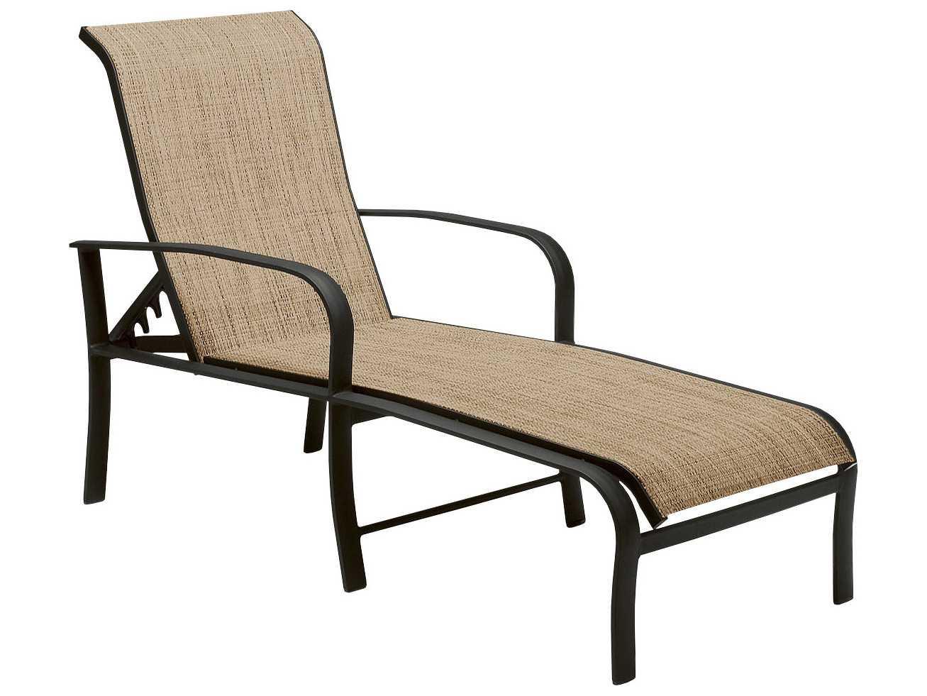 Woodard Fremont Sling Aluminum Adjustable Chaise Lounge