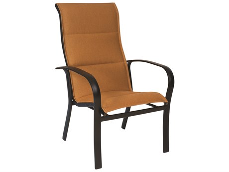Woodard Fremont Padded Sling Aluminum High Back Dining Chair