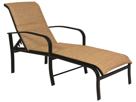 Woodard Fremont Padded Sling Aluminum Adjustable Chaise Lounge