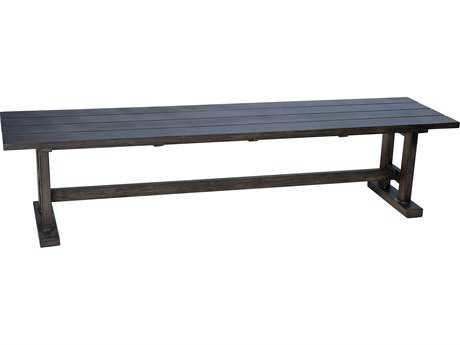 Woodard Woodlands Aluminum Trestle Bench