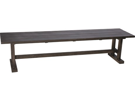Woodard Woodlands Aluminum Trestle Bench