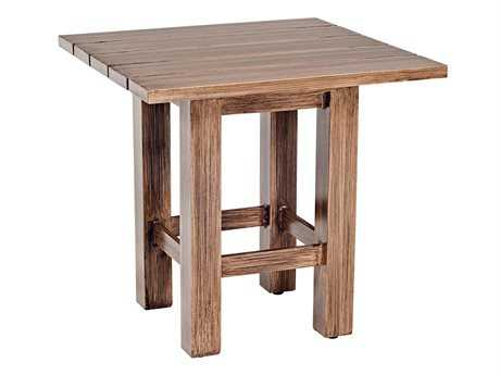 Woodard Woodlands Aluminum 23.50 Square End Table
