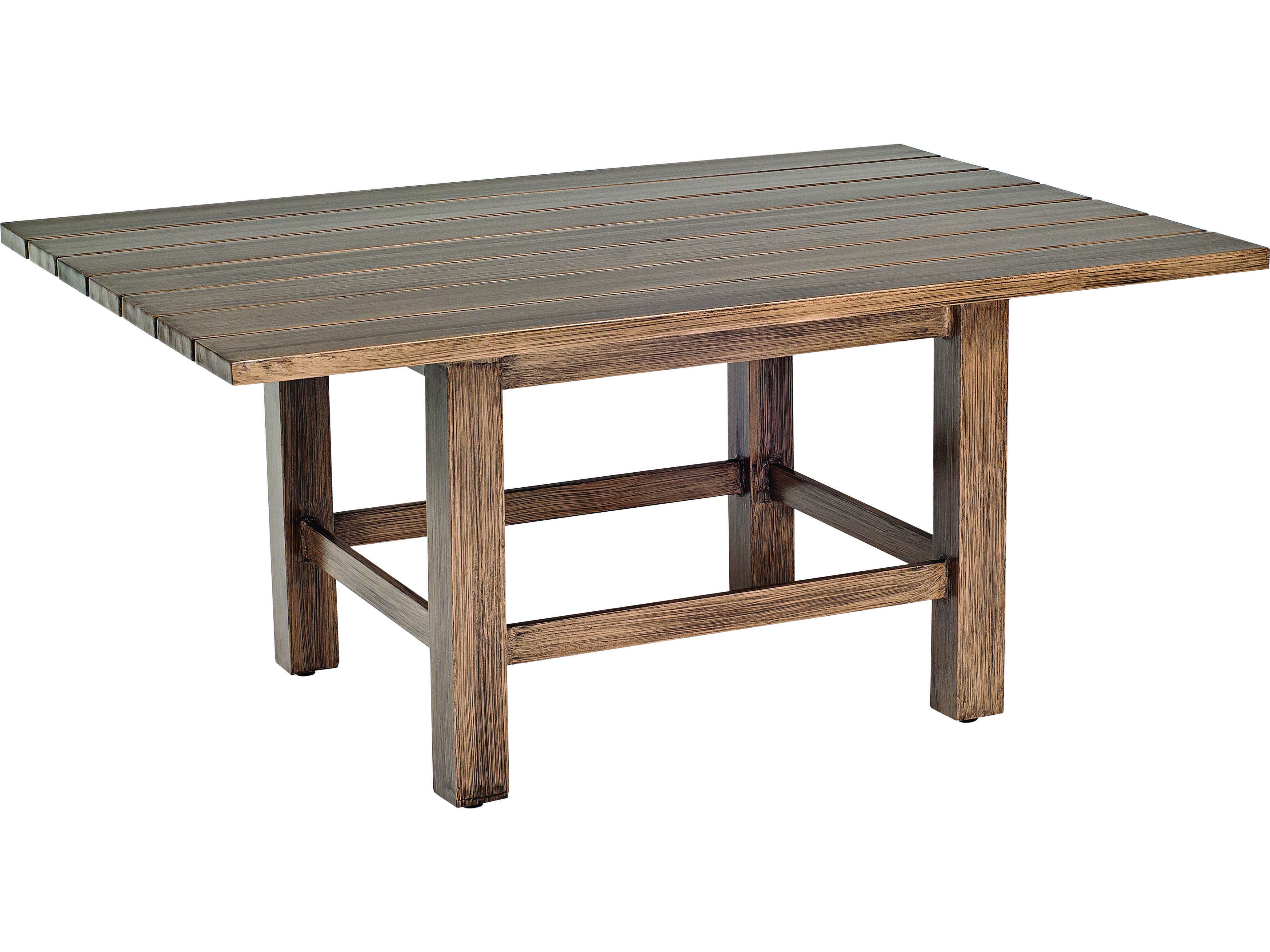 Woodard woodlands aluminum 48 x 36 rectangular coffee for 48 x 48 square coffee table