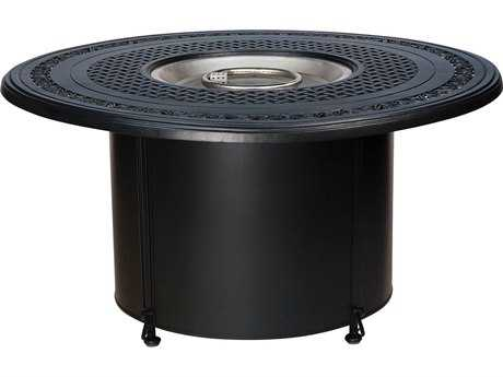 Woodard Universal Iron Chat Height Round Fire Table Base with Round Burner