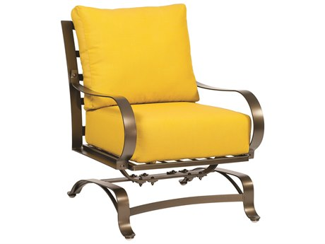 Woodard Cascade Wrought Iron Spring Lounge Chair