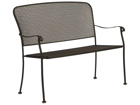 Woodard Fullerton Wrought Iron Stackable Bench