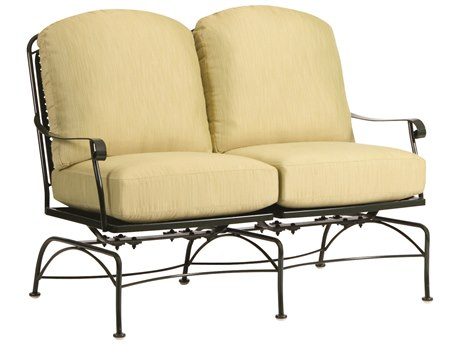 Woodard Fullerton Wrought Iron Dual Spring Rocking Loveseat