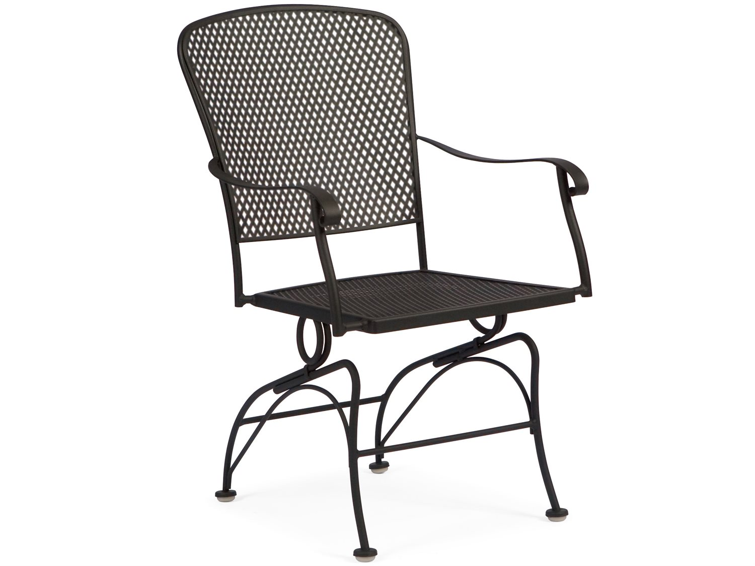 Woodard Fullerton Wrought Iron Coil Spring Dining Chair