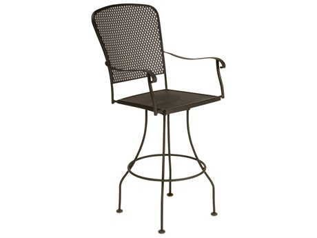 Woodard Fullerton Wrought Iron Swivel Bar Stool