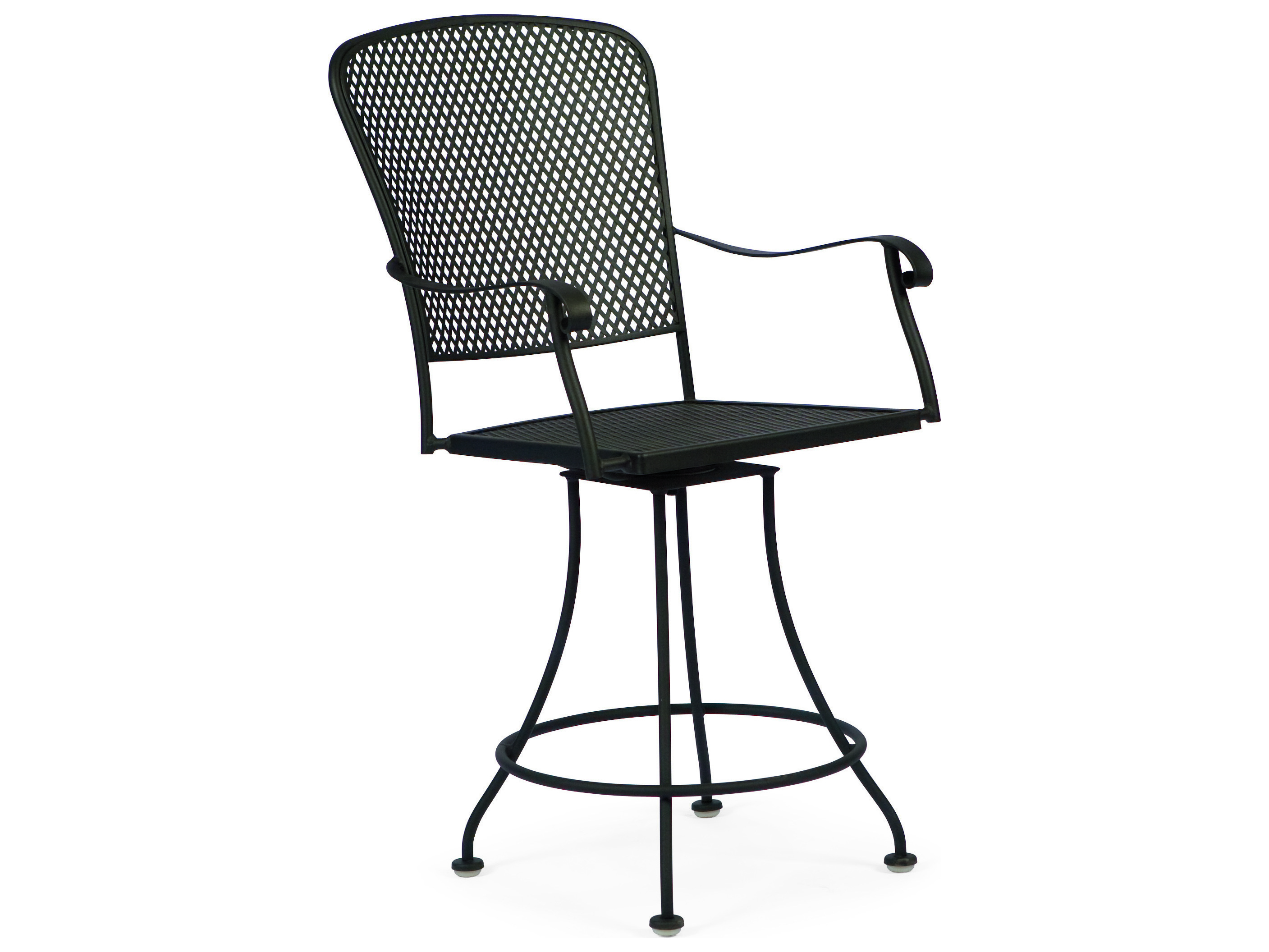 Woodard Fullerton Wrought Iron Swivel Counter Stool 2z0069
