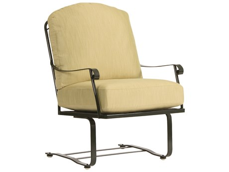 Woodard Fullerton Wrought Iron Spring Lounge Chair