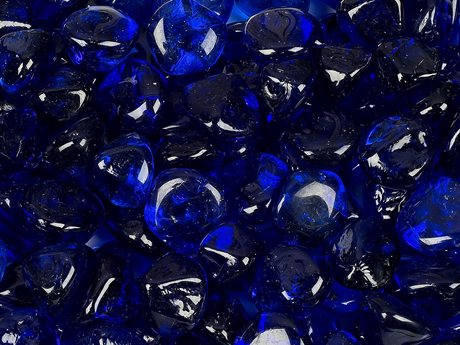 Woodard Replacement Beads By The Set Cobalt Blue Diamond Beads for Rectangular Burner