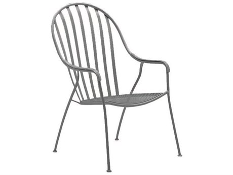 Woodard Valencia Wrought Iron High Back Barrel Chair