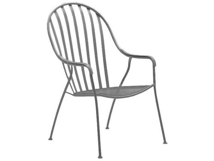 Woodard Valencia Wrought Iron High Back Barrel Chair PatioLiving