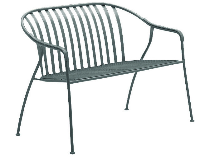 Wrought Iron Barrel Chair Outdoor Cushions: Woodard Valencia Wrought Iron Barrel Loveseat