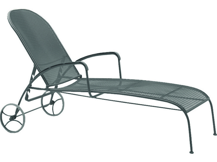 Woodard Valencia Wrought Iron Chaise Lounge