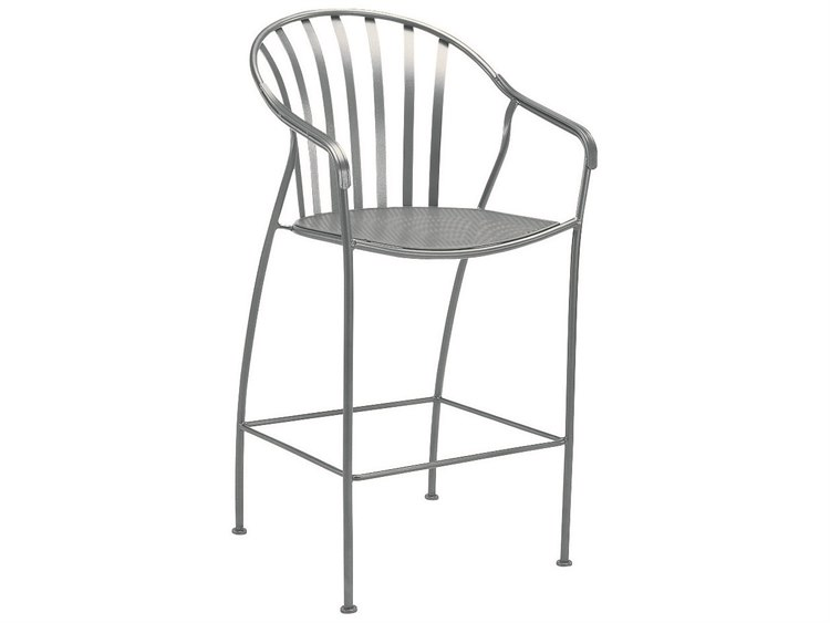 Wrought Iron Barrel Chair Outdoor Cushions: Woodard Valencia Wrought Iron Bar Stool