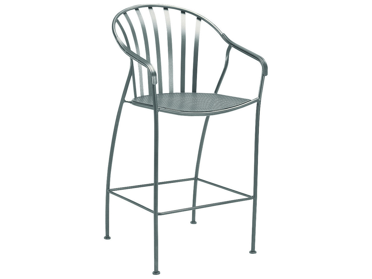Woodard Valencia Wrought Iron Bar Stool