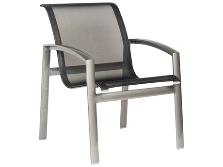 Woodard Metropolis Sling Aluminum Stackable Dining Arm Chair