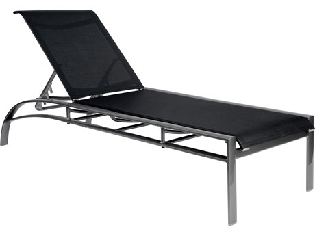 Woodard Metropolis Sling Aluminum Stackable Adjustable Chaise Lounge