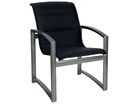 Woodard Metropolis Padded Sling Aluminum Dining Chair