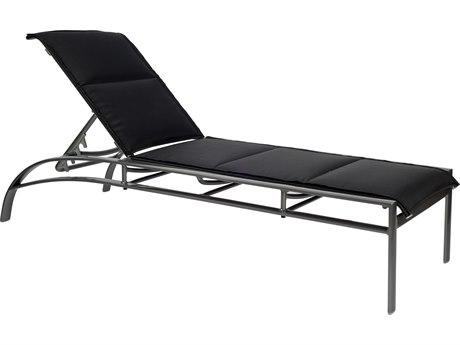 Woodard Metropolis Padded Sling Aluminum Stackable Adjustable Chaise Lounge