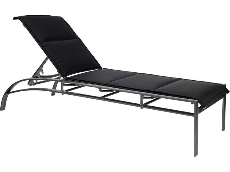 Woodard Metropolis Padded Sling Aluminum Stackable Adjustable Chaise Lounge PatioLiving