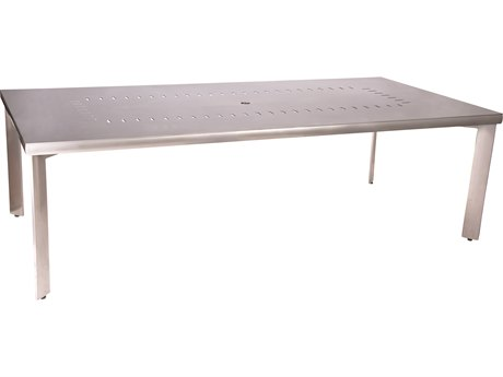 Woodard Metropolis Aluminum 90 x 44 Rectangular Table with Umbrella Hole