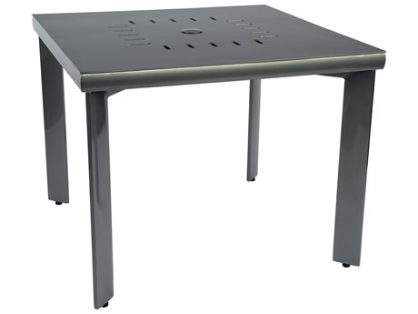 Woodard Metropolis Aluminum 36 Square Table with Umbrella Hole