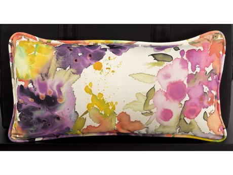 Woodard 20 x 10 Kidney Pillow with Two Sided Fabrics